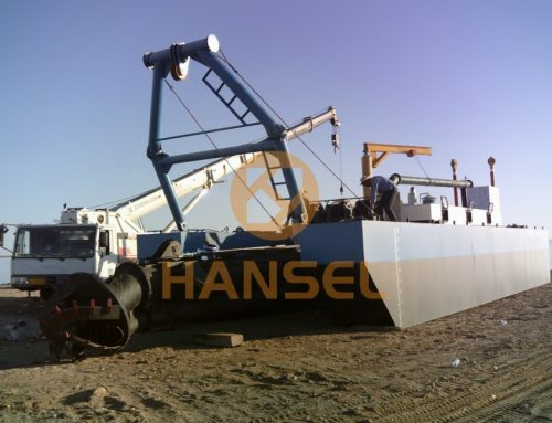 HS-40A Cutter Suction Dredger arrived in Xinjiang Province, China